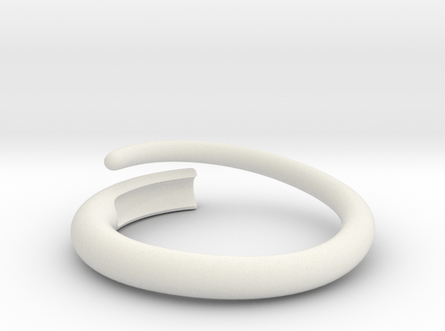 Snap ring. Size 20.5mm in White Natural Versatile Plastic