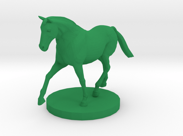 Horse on the Move in Green Processed Versatile Plastic