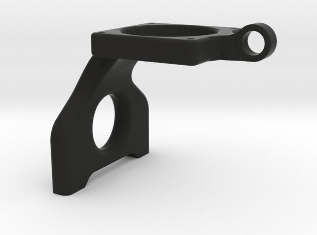 B6 Laydown 30mm Fan Mount in Black Natural Versatile Plastic