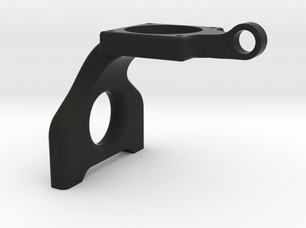 B6 Laydown 25mm fan mount in Black Natural Versatile Plastic