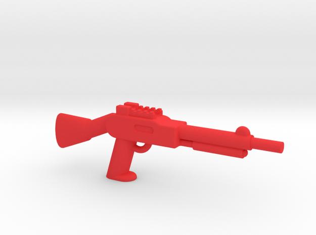 Minifigure Pump Shotgun in Red Processed Versatile Plastic