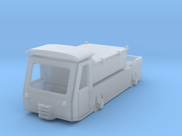 Mining battery locomotive low profile - model H0e in Smooth Fine Detail Plastic