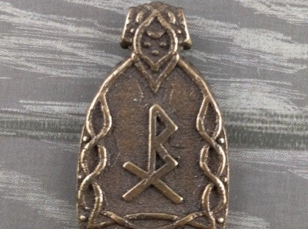 Healing Pendant in Polished Bronze Steel