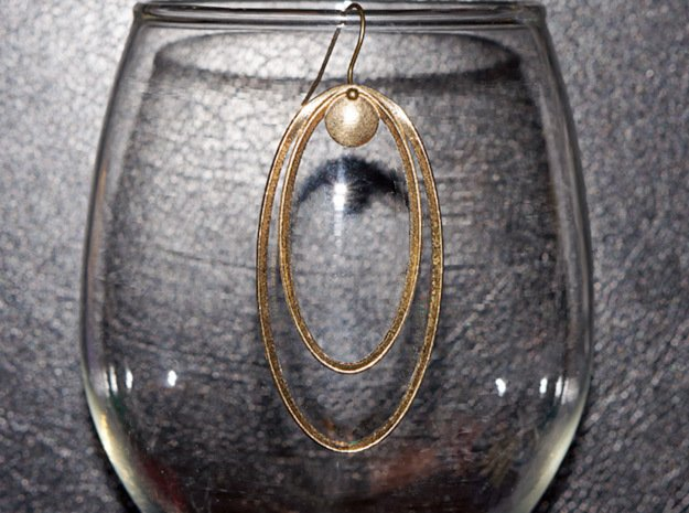 Focal Point Earring in Natural Brass