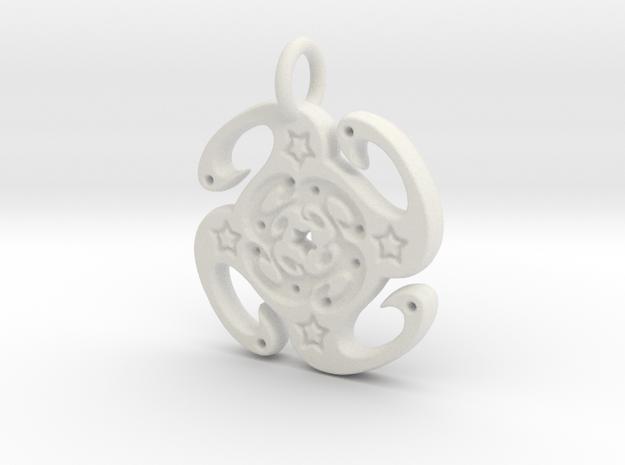 swirls in White Natural Versatile Plastic