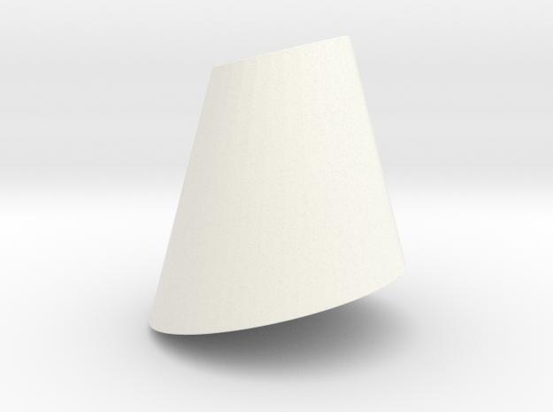 Pendant-ConeCut in White Processed Versatile Plastic