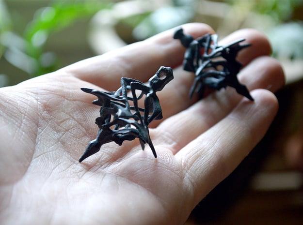 Surreal Lantern Earrings - Standard Pair in Black Natural Versatile Plastic