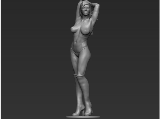 Girl Sculpture 54mm in Smooth Fine Detail Plastic