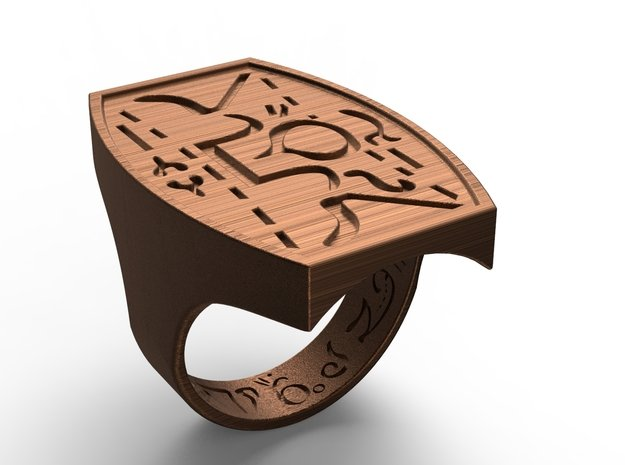 Talisman #17 in Polished Bronze Steel: 6.5 / 52.75