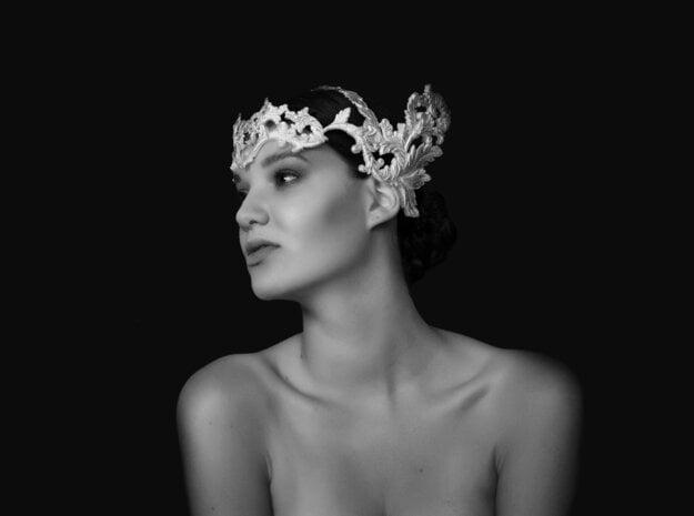 Headwear in White Natural Versatile Plastic