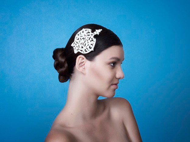 Hair Comb in White Natural Versatile Plastic
