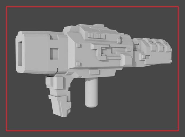 """HAMMERDOWN"" Transformers Weapon (5mm post) in White Natural Versatile Plastic"