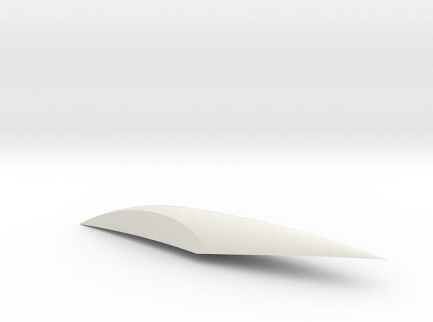 X-15 Canopy in White Natural Versatile Plastic