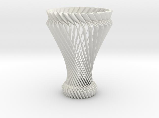 Hyperboloid Decorative Lamp V2 in White Natural Versatile Plastic