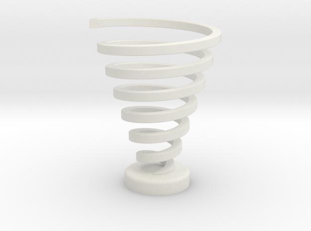 Ross Spiral Color - Original spin in White Natural Versatile Plastic
