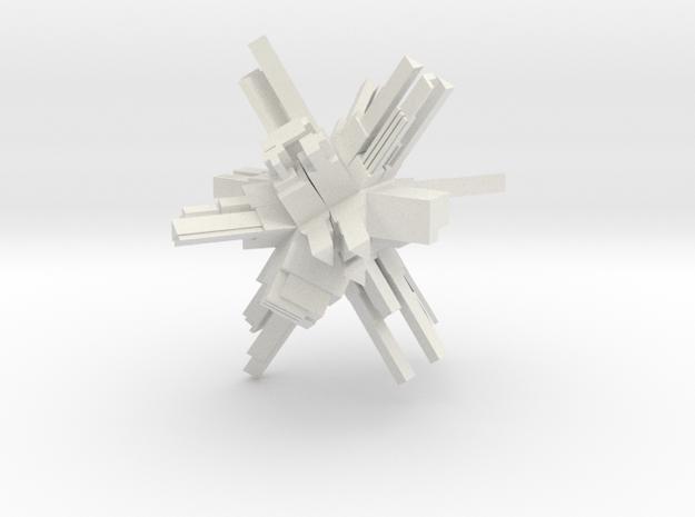 CITADEL 1 SMALL in White Natural Versatile Plastic