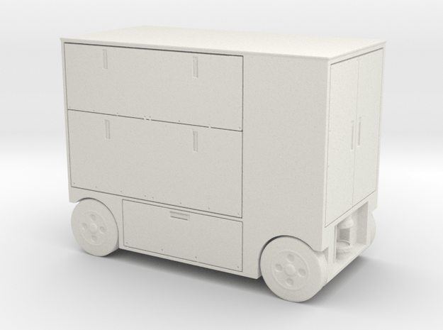 Bsg style Hanger tool cart 1:18 scale in White Natural Versatile Plastic
