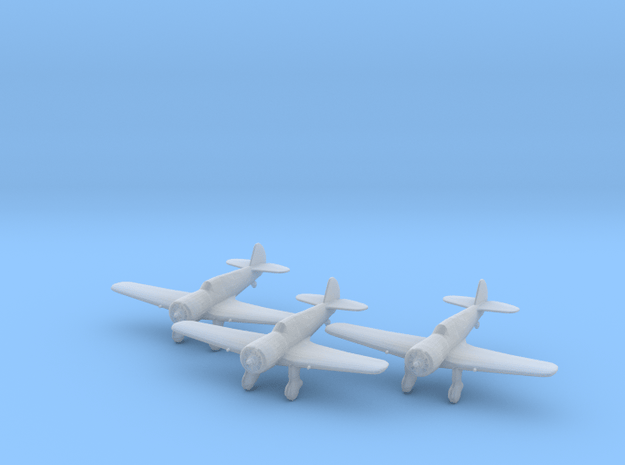 Curtiss 75N 'Hawk' 1:200 x3 FUD in Smooth Fine Detail Plastic