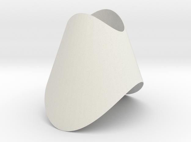 Pendant-ConeOvalCut in White Natural Versatile Plastic