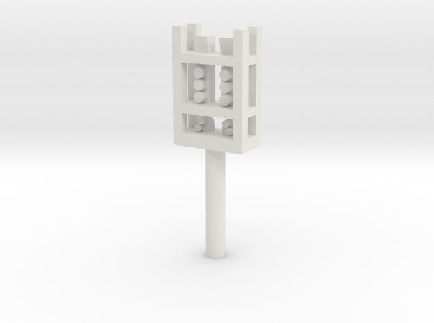 Leeds Signal P19d-P11d End Plat in White Natural Versatile Plastic