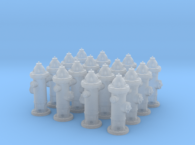 Hydrant type : A H0 (1:87) 16 Pcs in Smooth Fine Detail Plastic