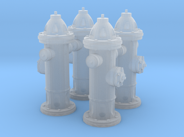 Hydrant type : A 1:35 4 Pcs in Smooth Fine Detail Plastic