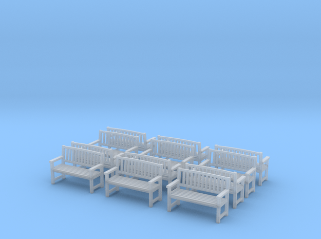 Bench type B - 1:72 scale 12 pcs  in Smooth Fine Detail Plastic