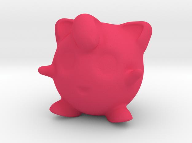 Jigglypuff in Pink Processed Versatile Plastic