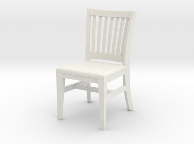 1:24 Courtroom Chair in White Natural Versatile Plastic