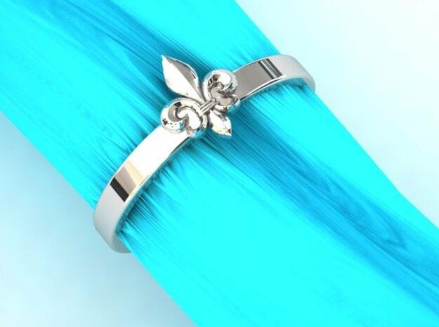 Fleur de lis ring 6 US size