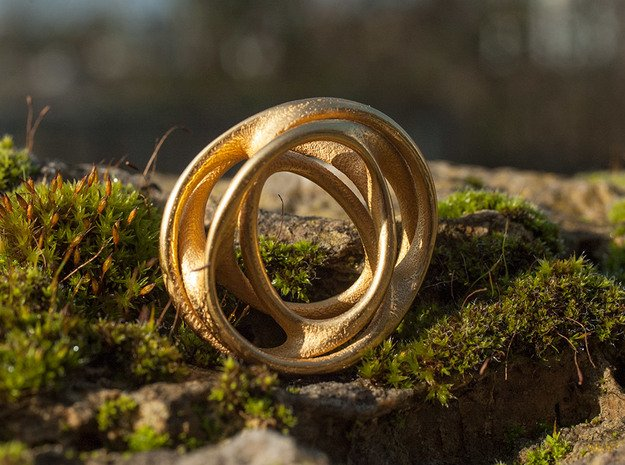 Scherk me   in Polished Gold Steel