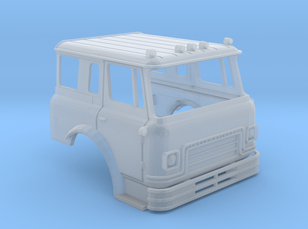 HO-Scale Cargostar Fire Truck Cab in Smoothest Fine Detail Plastic