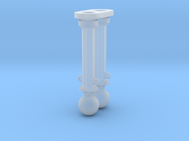 METAL HEX AND BALL BOLLARD in Smooth Fine Detail Plastic