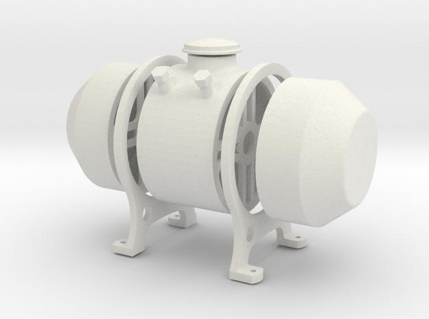 8th scale fuel tank in White Natural Versatile Plastic