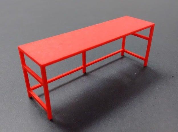 Garage Workbench 1/24 in Red Processed Versatile Plastic