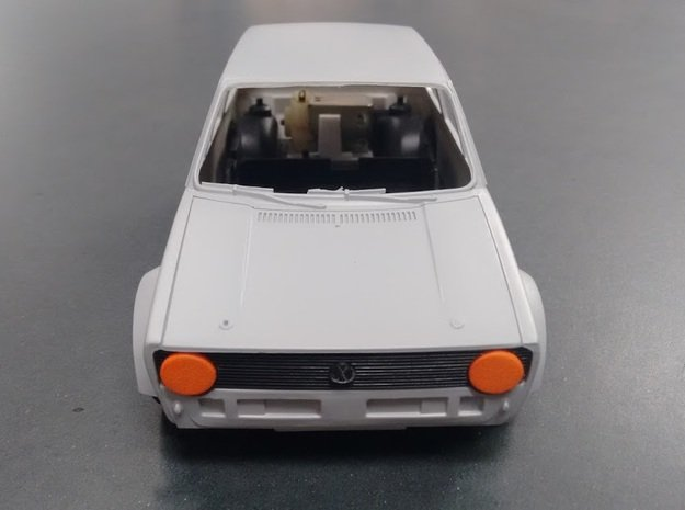 Rabbit Eyes - Tamiya Golf Mk1 1/24 Scale in Orange Processed Versatile Plastic