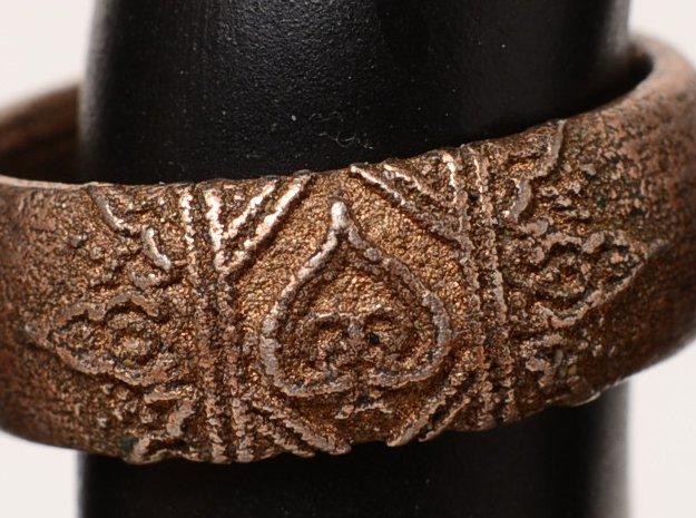 Ace Ring_Henna in Polished Bronzed Silver Steel: 7 / 54