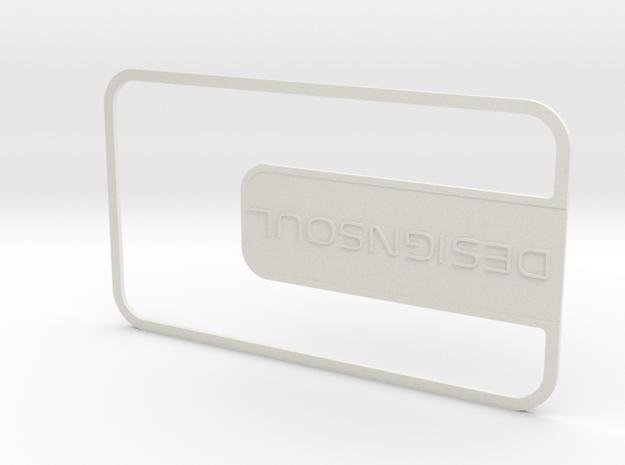 Customizable Businesscard in White Natural Versatile Plastic