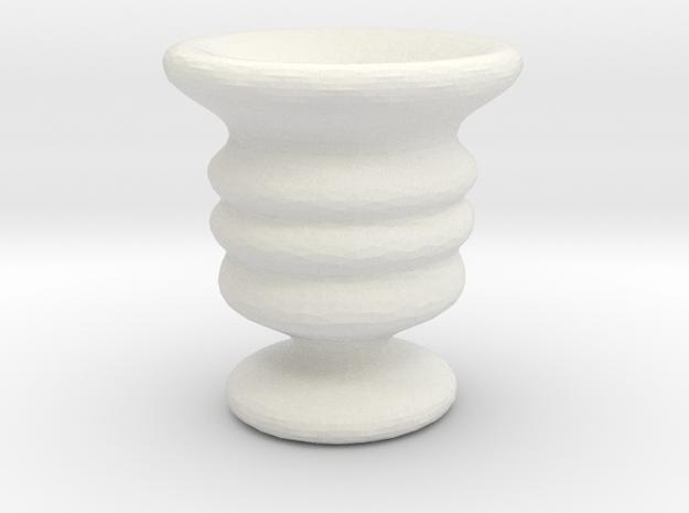 Tiny  Vase in White Natural Versatile Plastic
