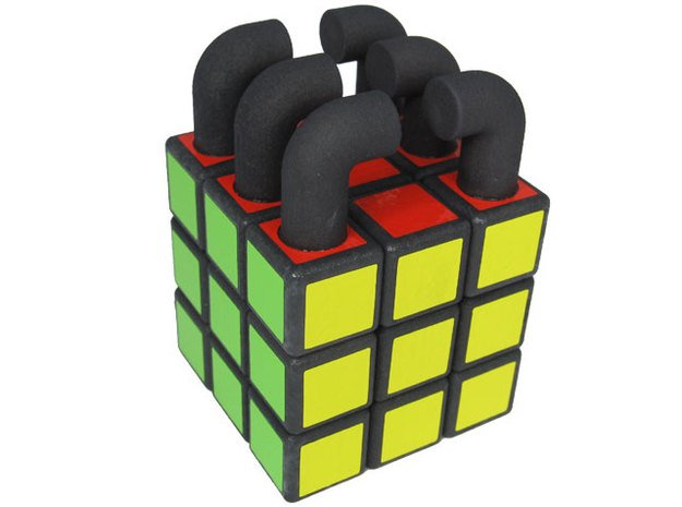 Invisible Handlebar Cube in White Natural Versatile Plastic