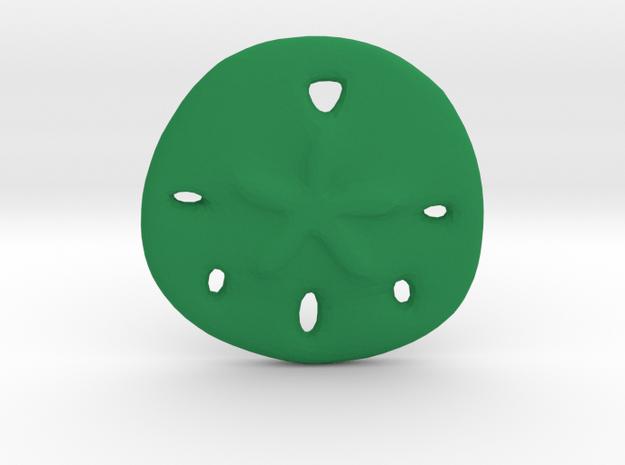 Sandollar Charm in Green Processed Versatile Plastic
