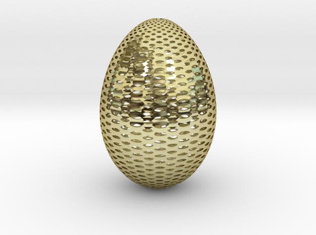 Designer Egg 2 in 18k Gold Plated Brass