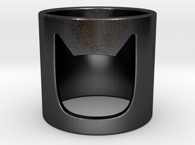 BATMAN Ring in Polished and Bronzed Black Steel: 5 / 49