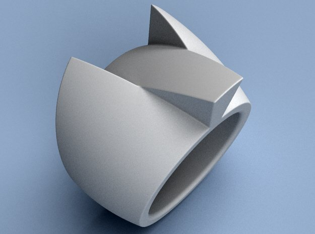Hypersonic - Size 12 (21.49 mm) in Polished Silver