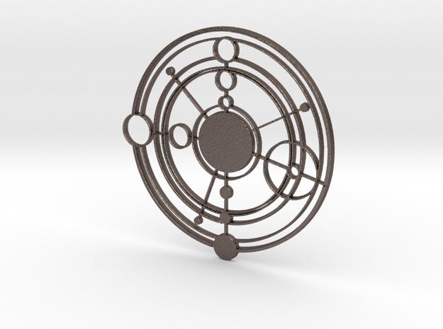 Galifreyan Symbol in Polished Bronzed Silver Steel