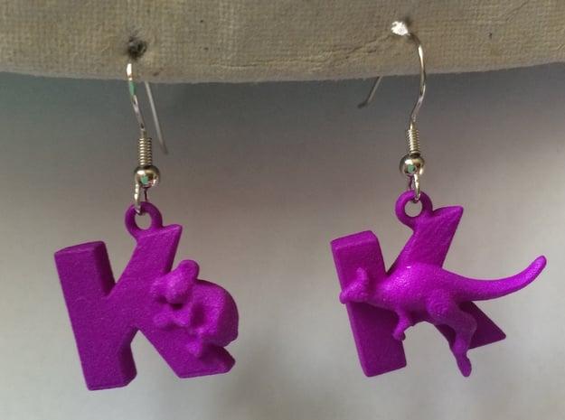 K Is For Koalas And Kangaroos in Purple Processed Versatile Plastic