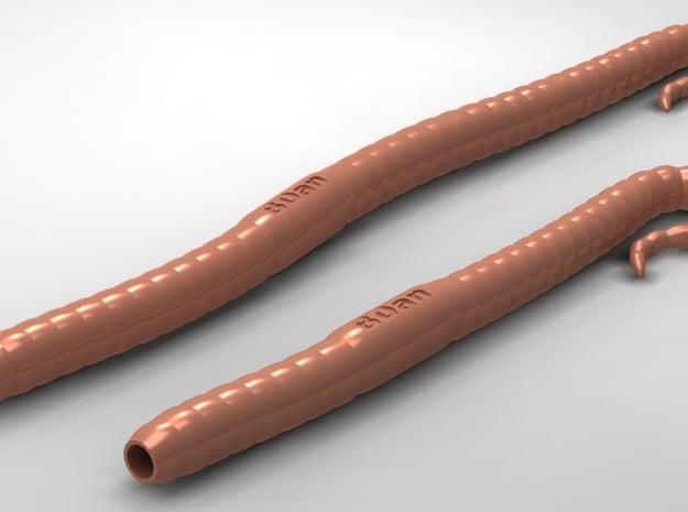 Worm Pen in White Natural Versatile Plastic