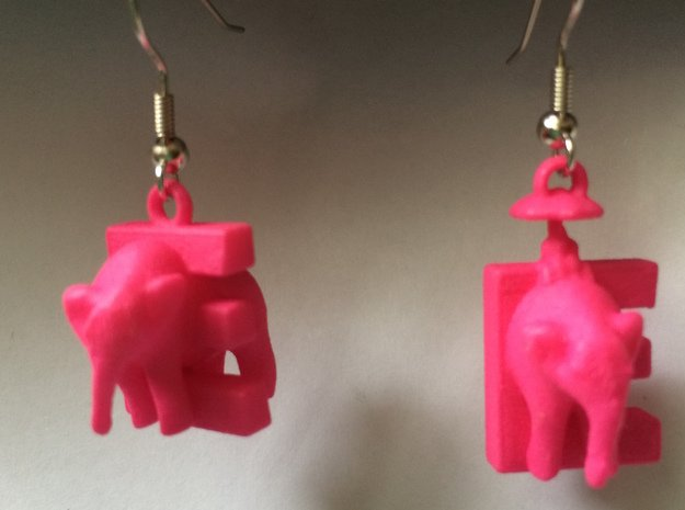 E Is For Elephants in Pink Processed Versatile Plastic