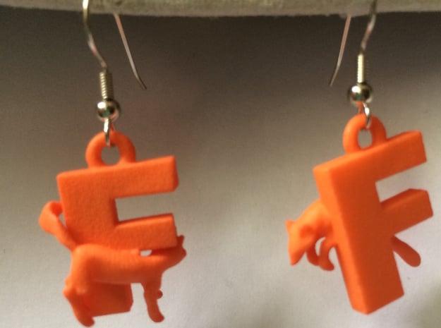 F Is For Fox in Orange Processed Versatile Plastic