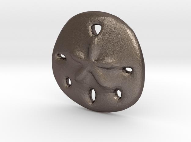 Sandollar Charm in Polished Bronzed Silver Steel
